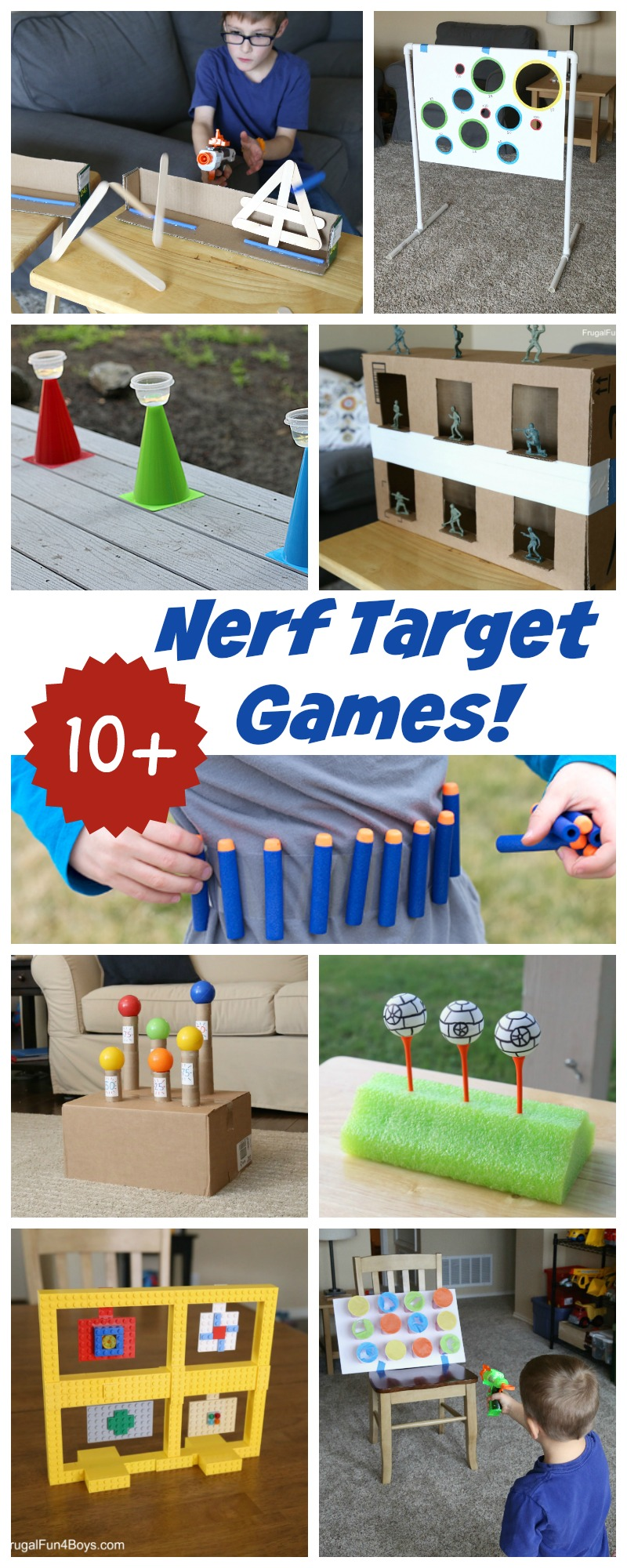10+ of the BEST Nerf Target Games