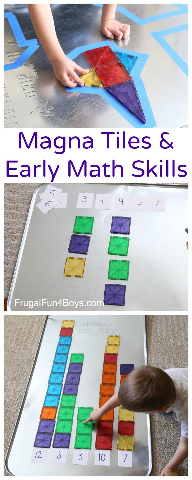 Magna Tiles Math Activities