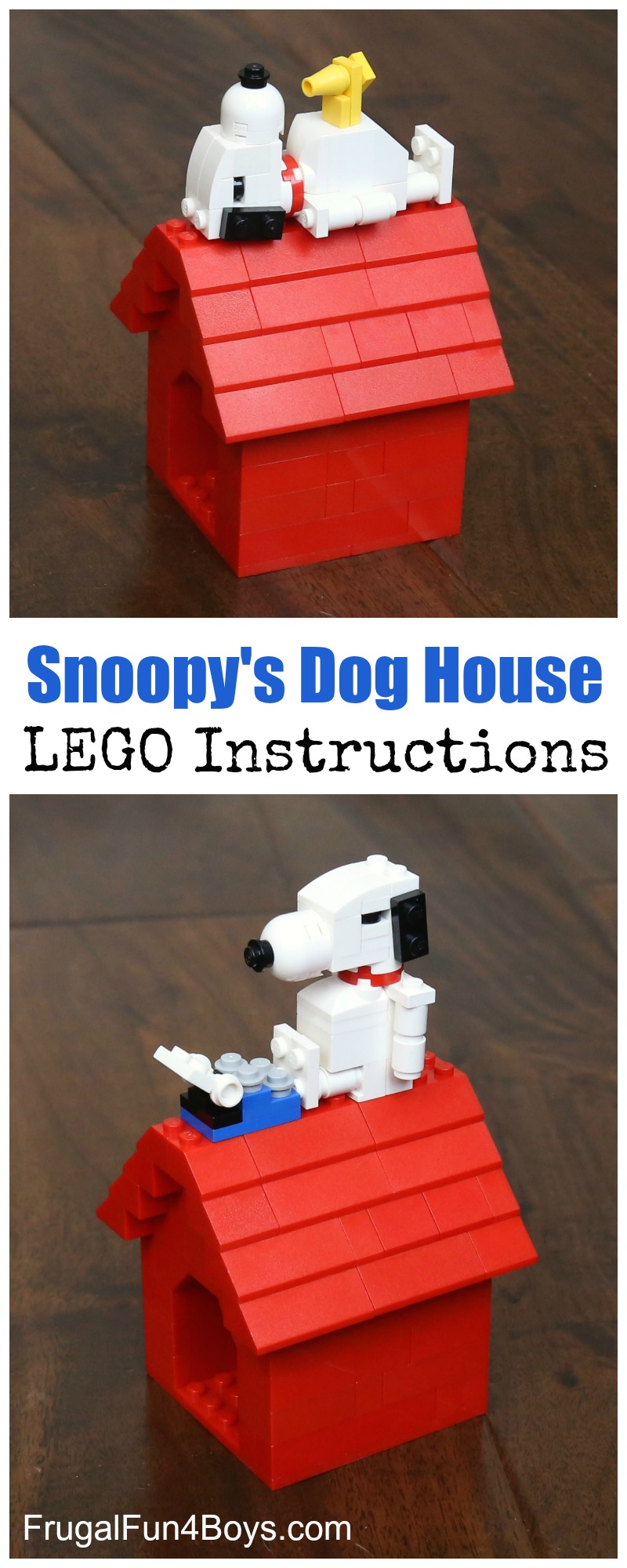 Snoopy and His Doghouse LEGO Building Instructions