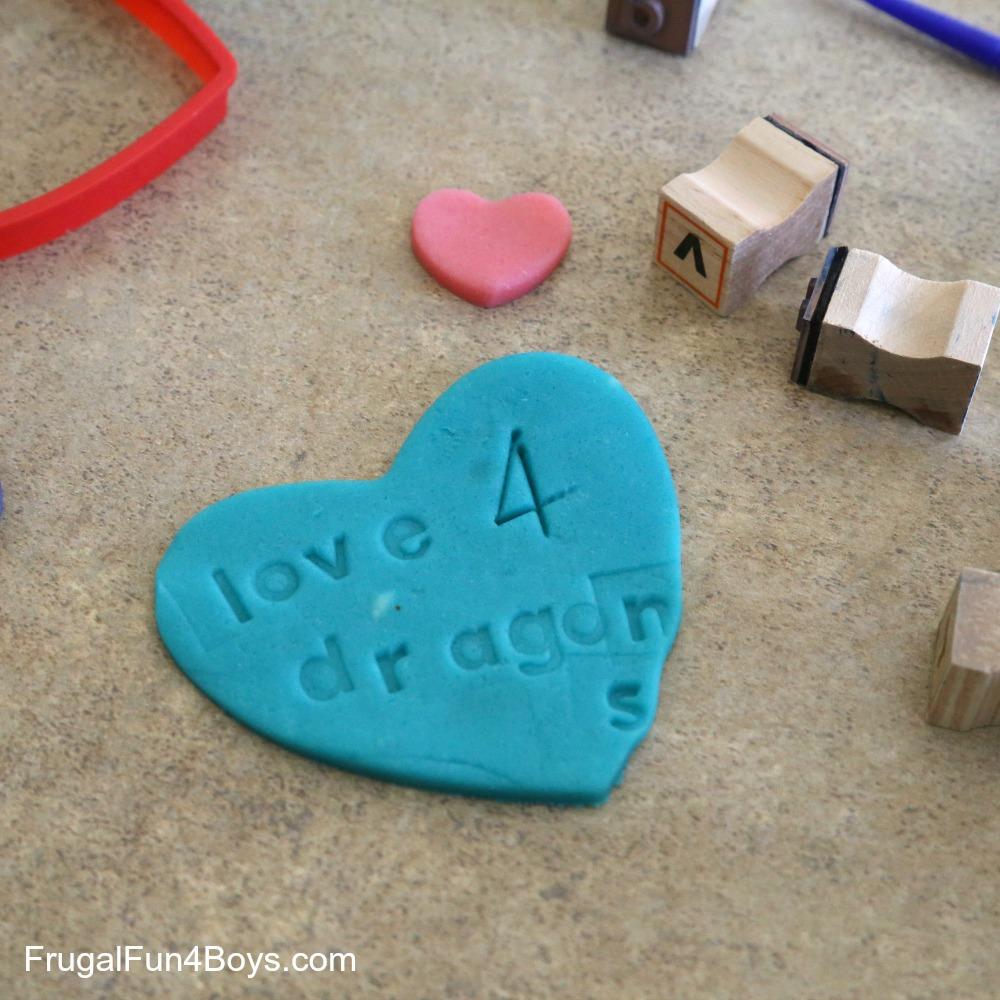 Conversation Hearts Play Dough