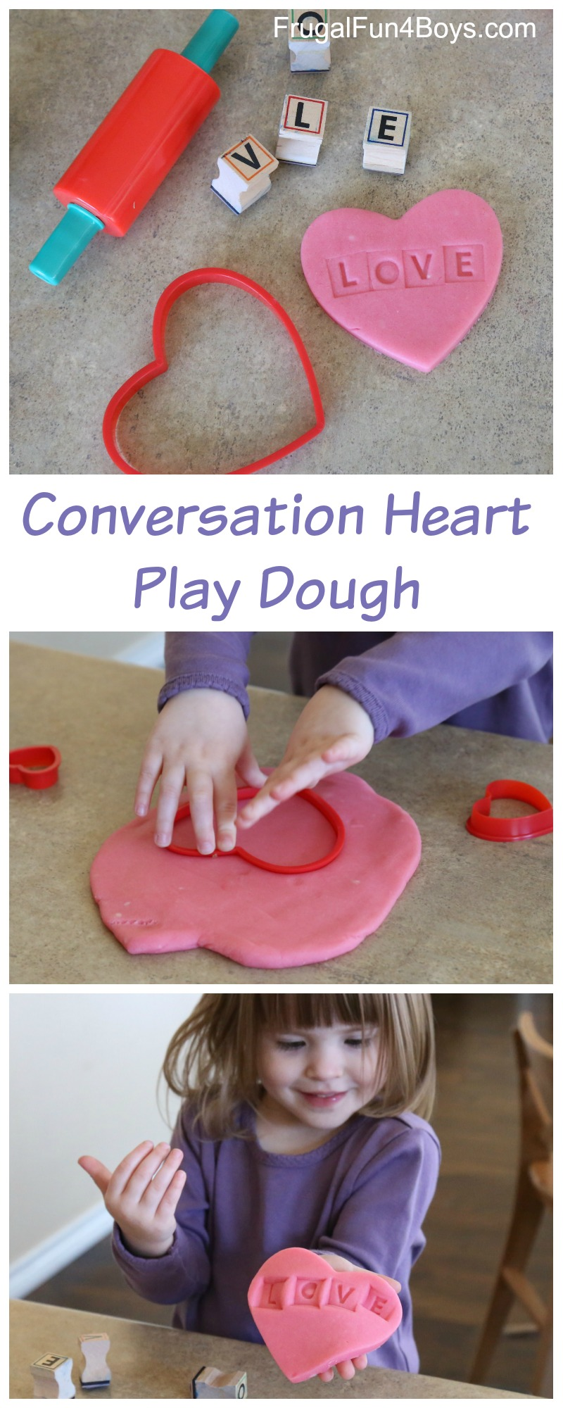 Valentine's Day Activity - Conversation Hearts Play Dough