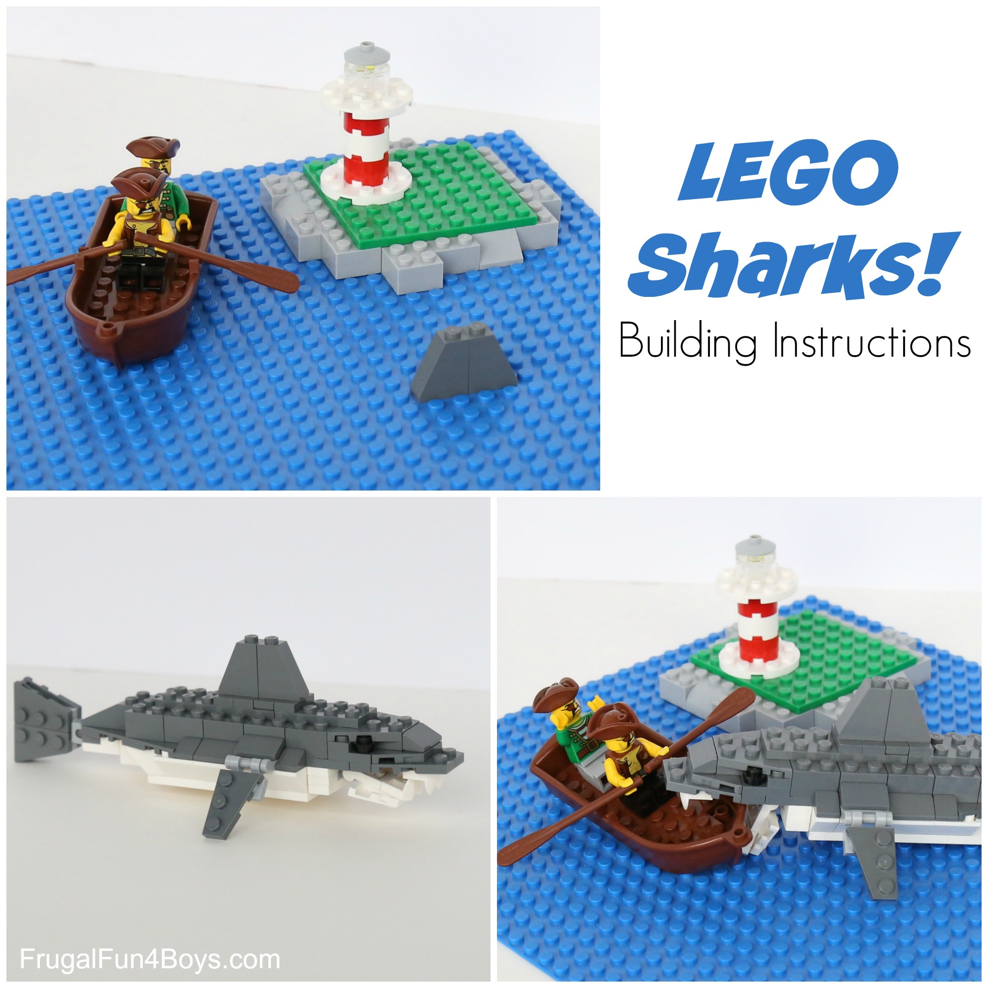 LEGO Sharks Building Instructions