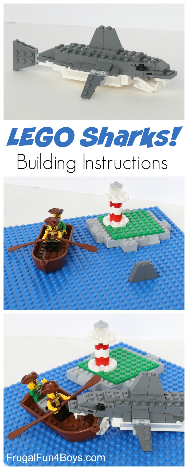 How to Build Awesome LEGO Sharks