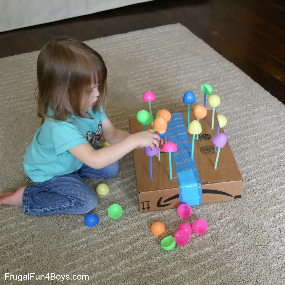 Egg Towers! A Fine Motor Balancing Game