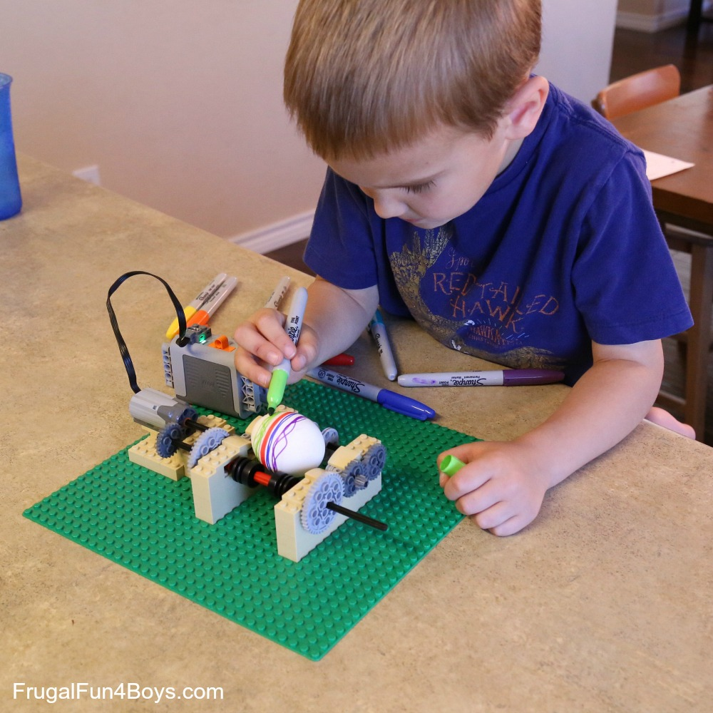 LEGO Egg Decorating Machine