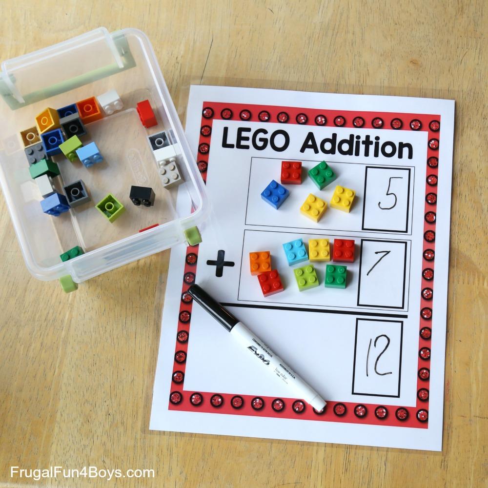 LEGO Addition Printable Math Activity
