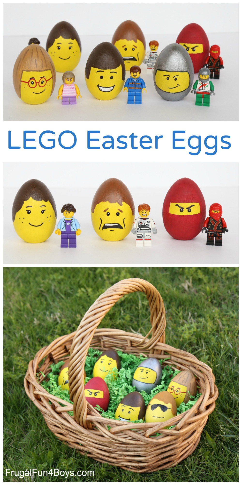 LEGO Minifigure Decorated Easter Eggs