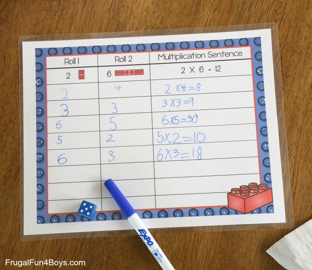 LEGO Multiplication Mats! Printable Math Activity