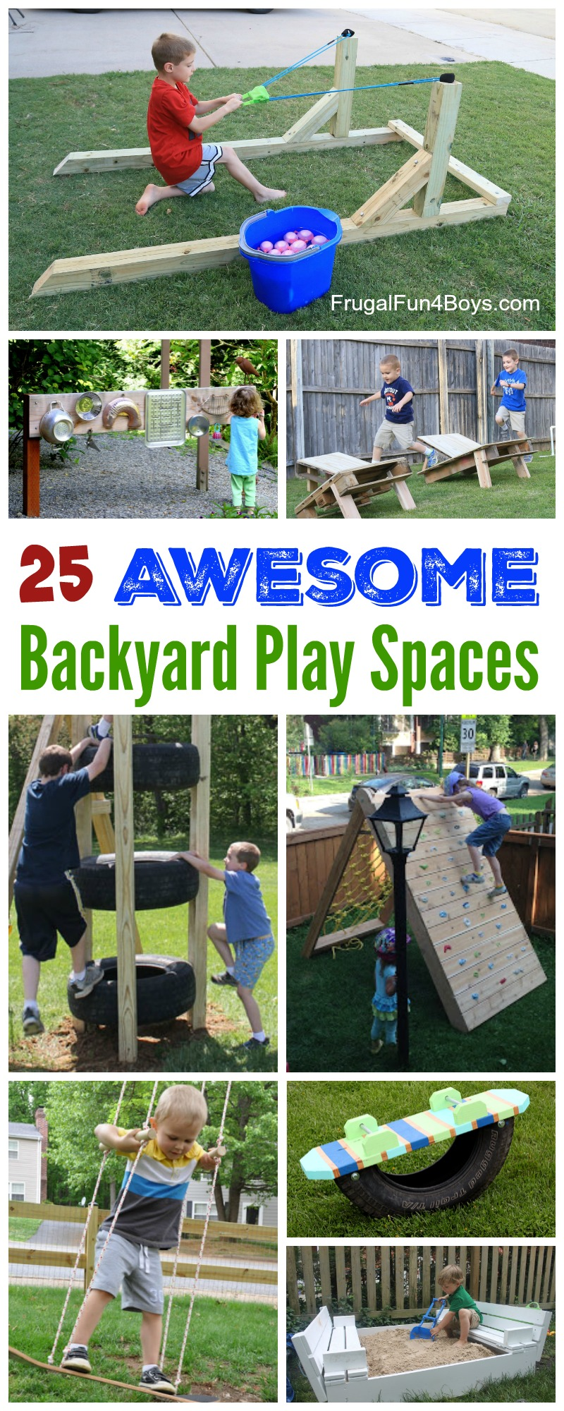 Image of: The Best Backyard Diy Projects For Your Outdoor Play Space Frugal Fun For Boys And Girls