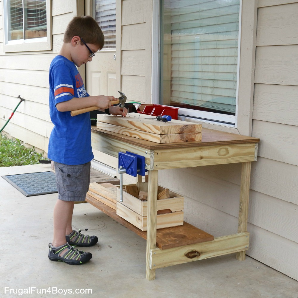 Kids Workbench Plans - Woodworking for Kids