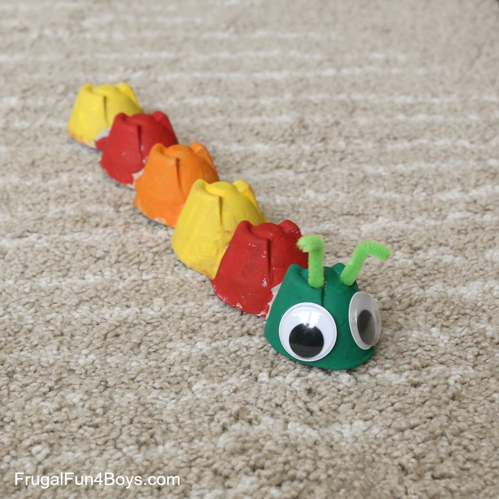 Egg Carton Caterpillar Craft