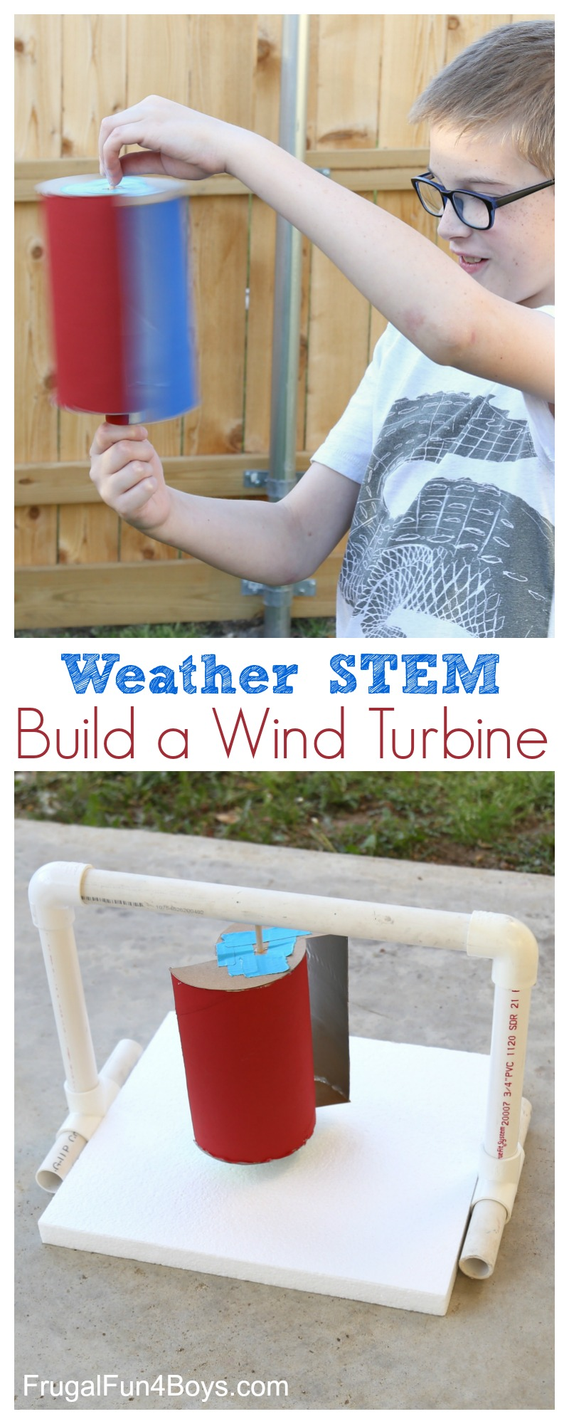 Build a Wind Turbine! Weather science and engineering project.