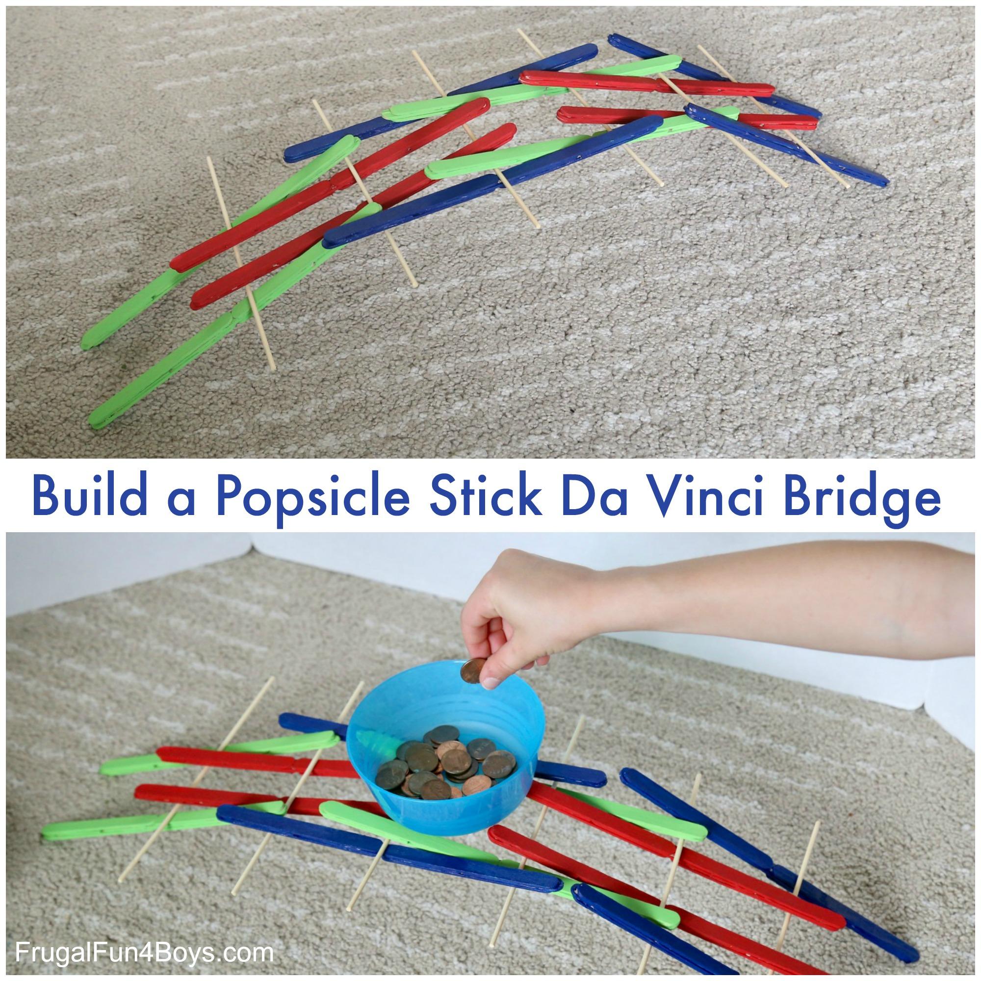 STEM Activity: Build a Popsicle Stick Da Vinci Bridge