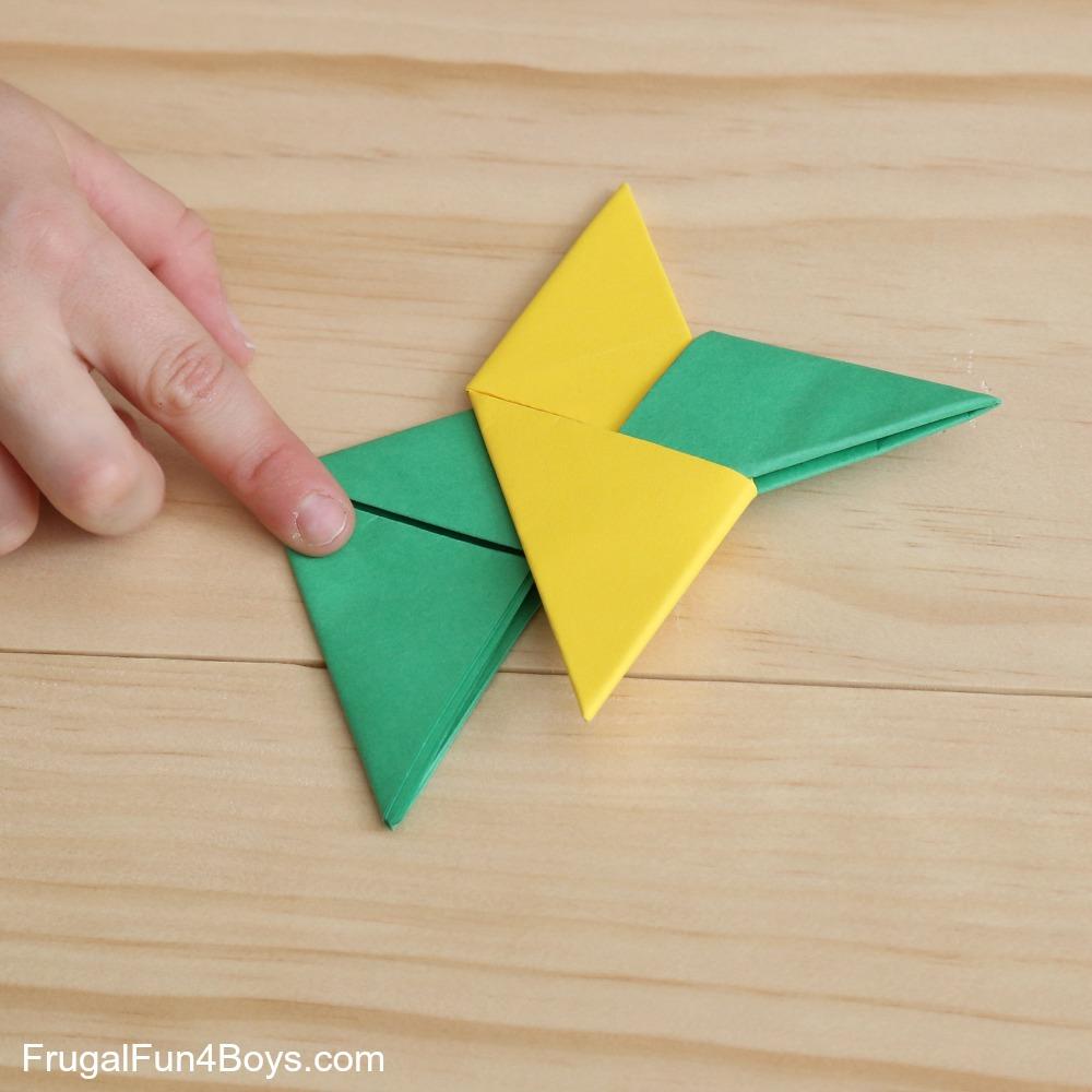 How To Make a Paper Ninja Star (Shuriken) - Origami | Remake - YouTube | 1000x1000