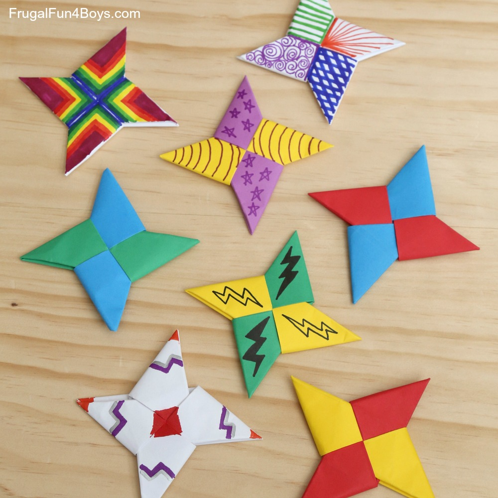 How to Make a Ninja Star (Shuriken) - Origami - Easy Step by Step ... | 1000x1000