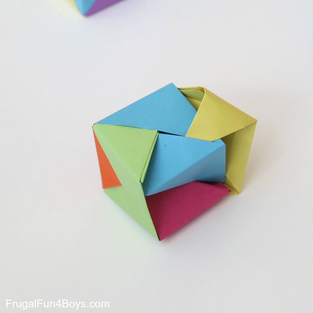 How to make an Origami Modular Sonobe Cube! (6 pieces) | Origami ... | 1000x1000