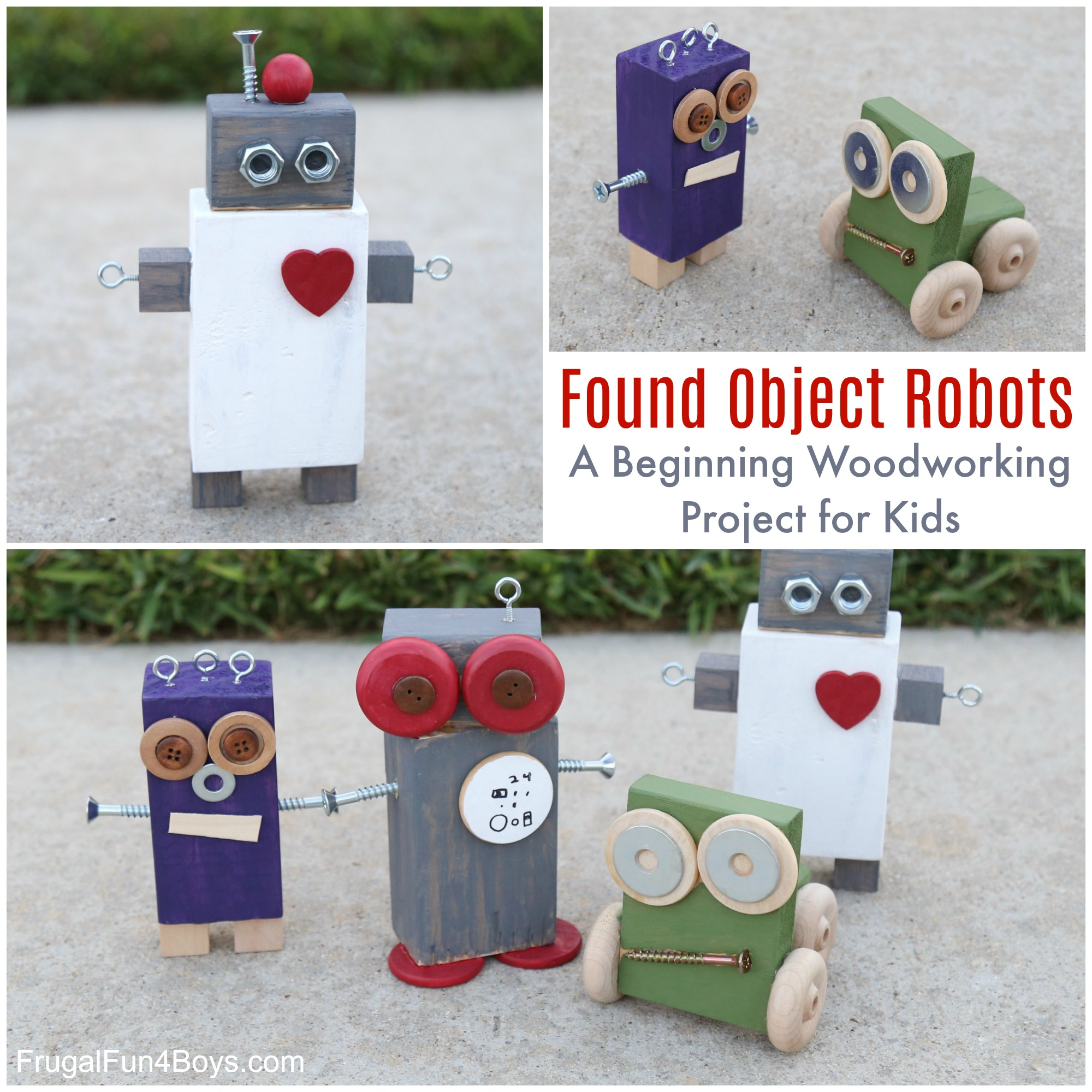 Found Object Robots A Beginning Woodworking Project For