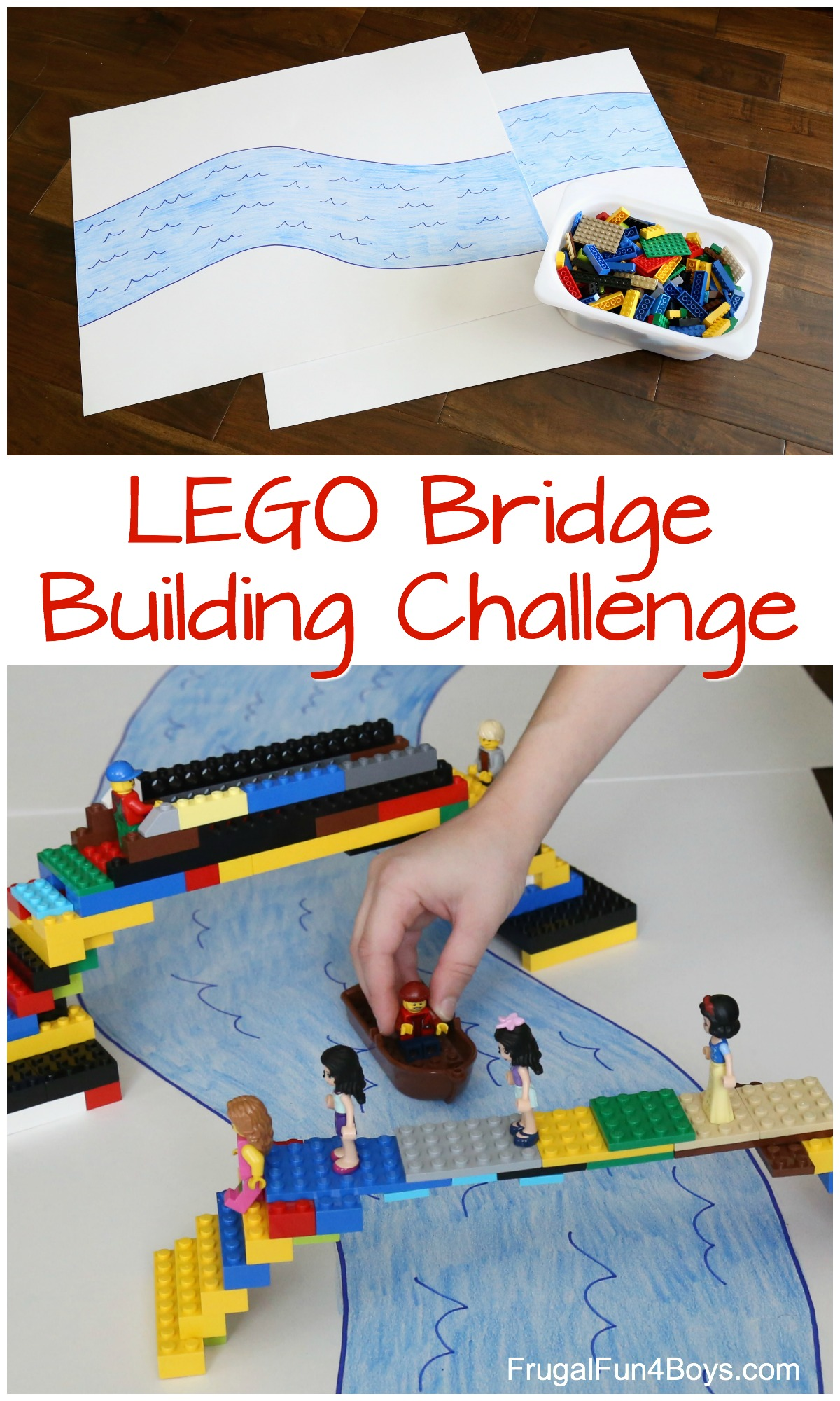 Do A Lego Bridge Building Challenge Frugal Fun For Boys And Girls