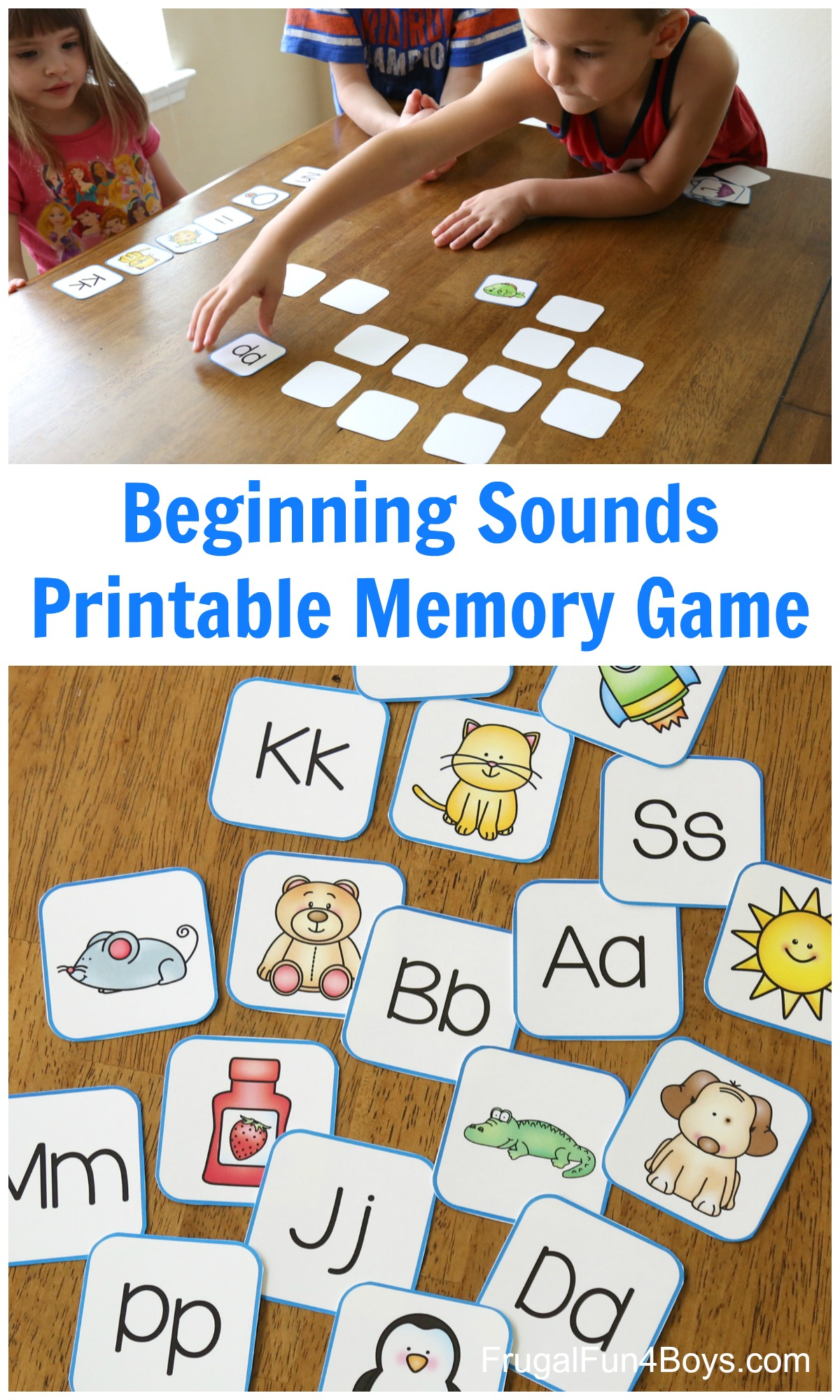 Printable Alphabet Memory Game Cards Frugal Fun For Boys And Girls
