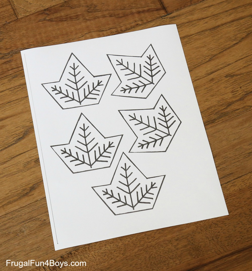 Leaf Tessellation Collaborative Stem Art Project Frugal Fun For Boys And Girls