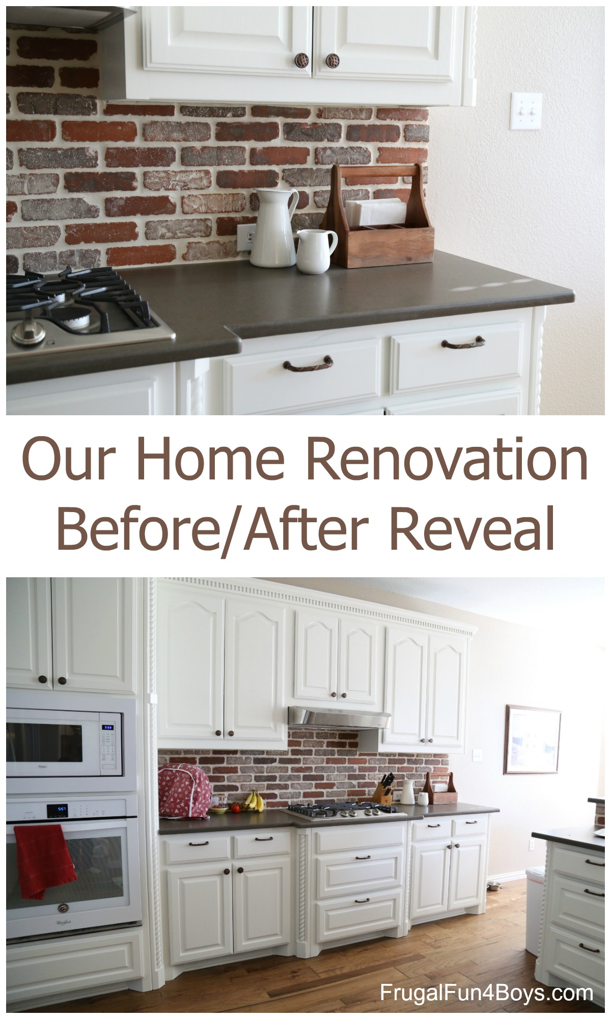 Our Home Renovation Before After Reveal Frugal Fun For