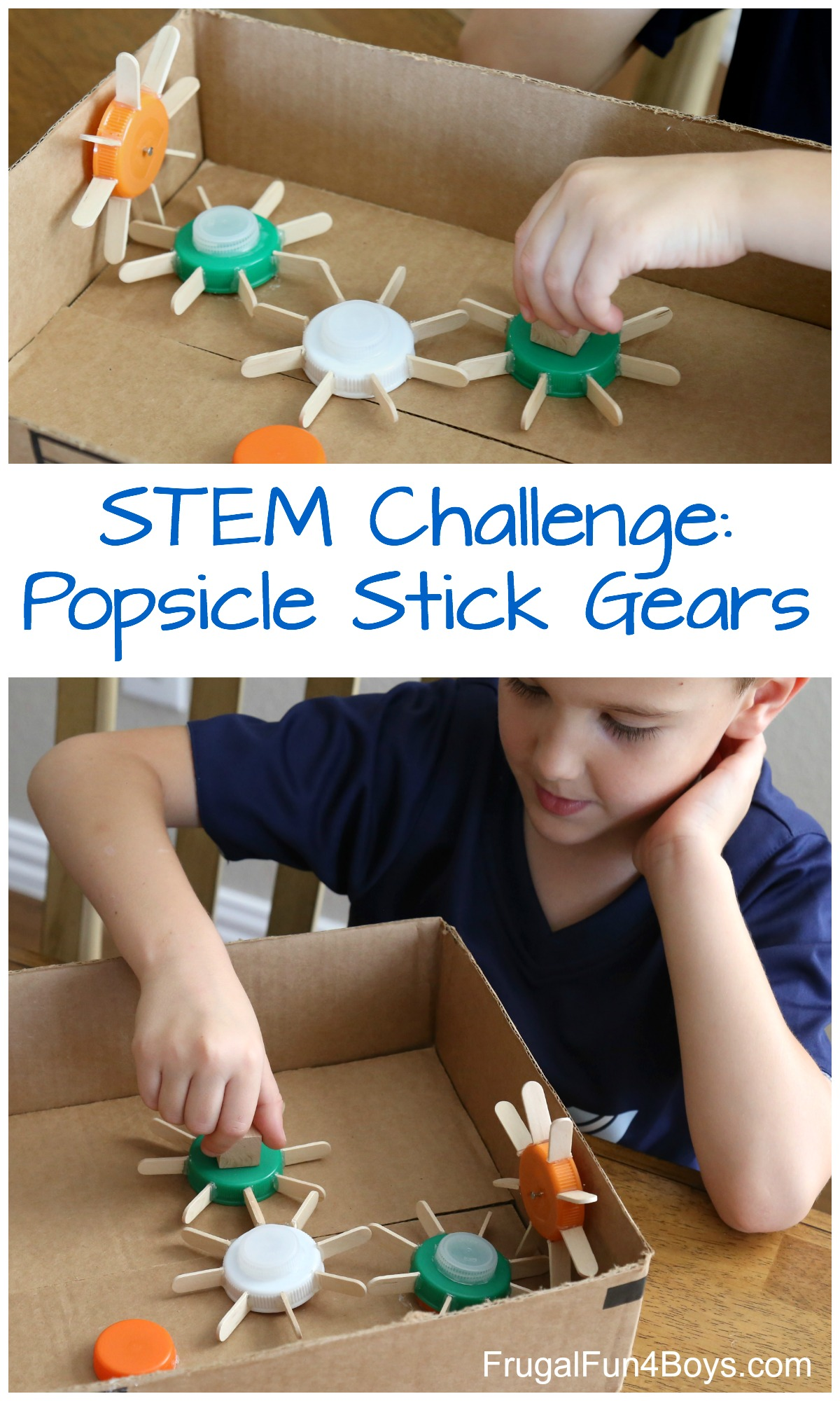 Build Working Gears Out Of Popsicle Sticks Frugal Fun For Boys And Girls