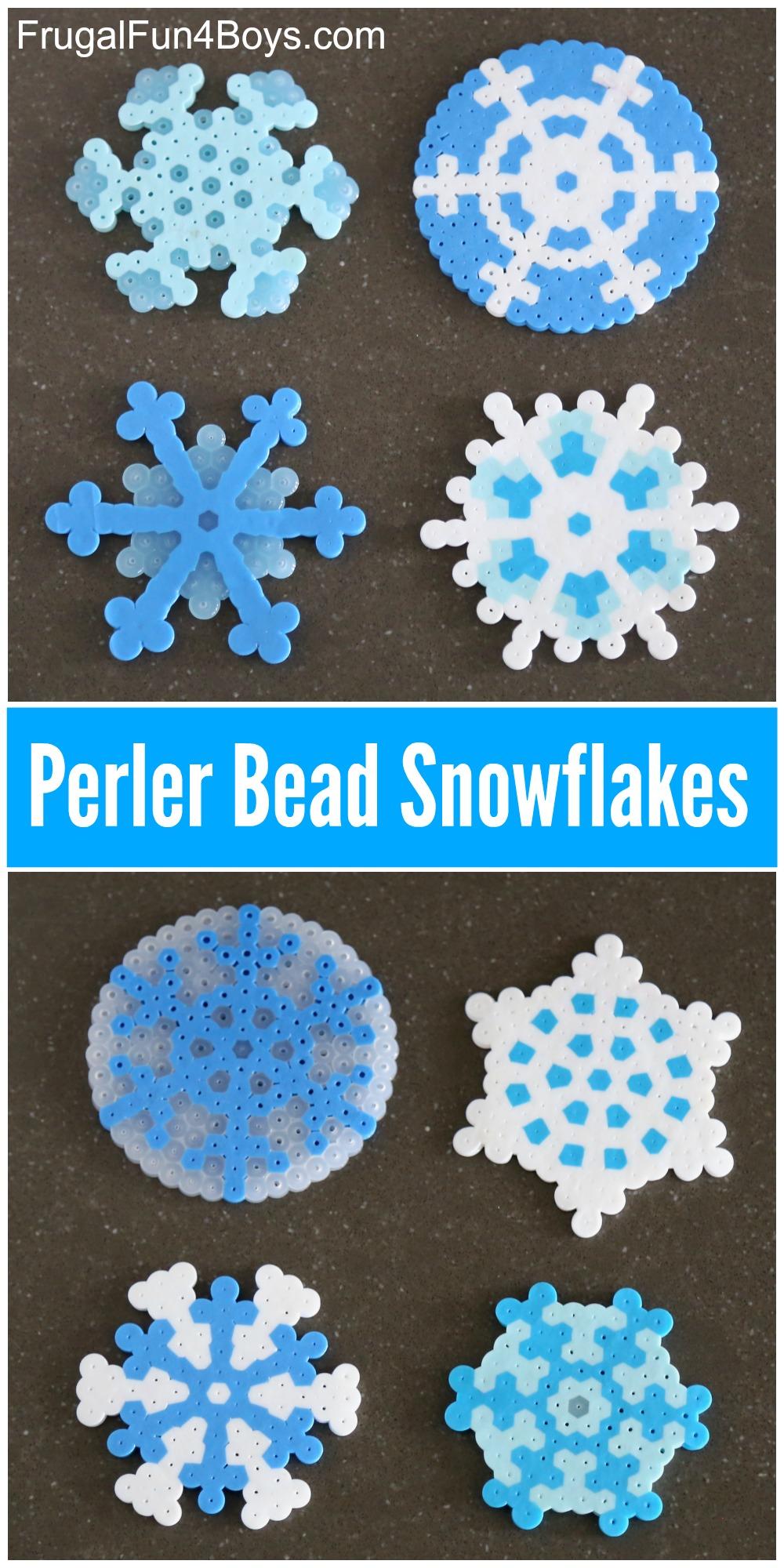 Perler bead snowflake patterns