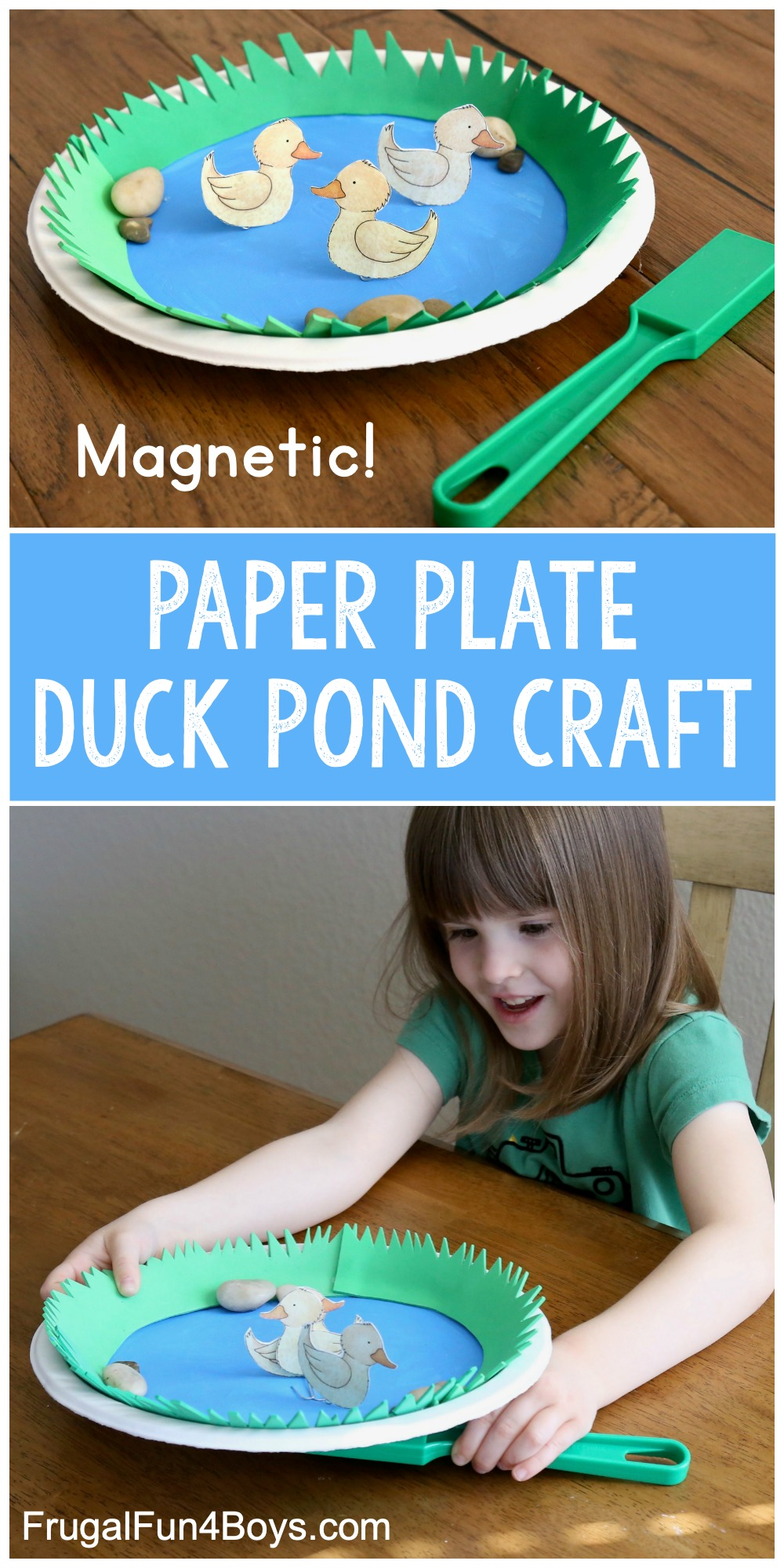 Spring craft for kids! Make a duck pond.
