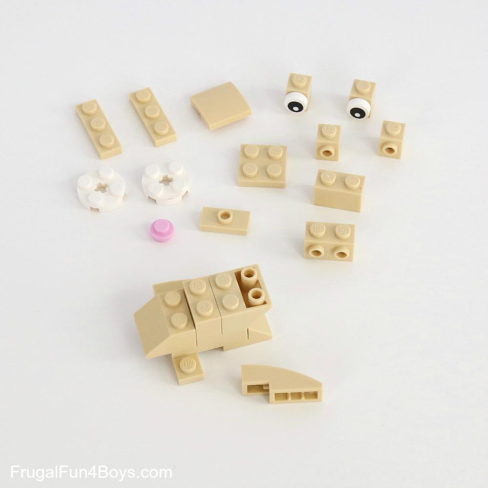 Lego 4 Black antenna round top
