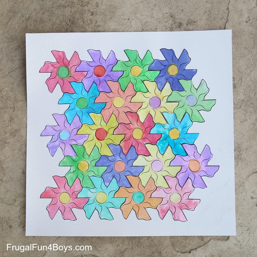 Flower Tessellation Activity - Math Art