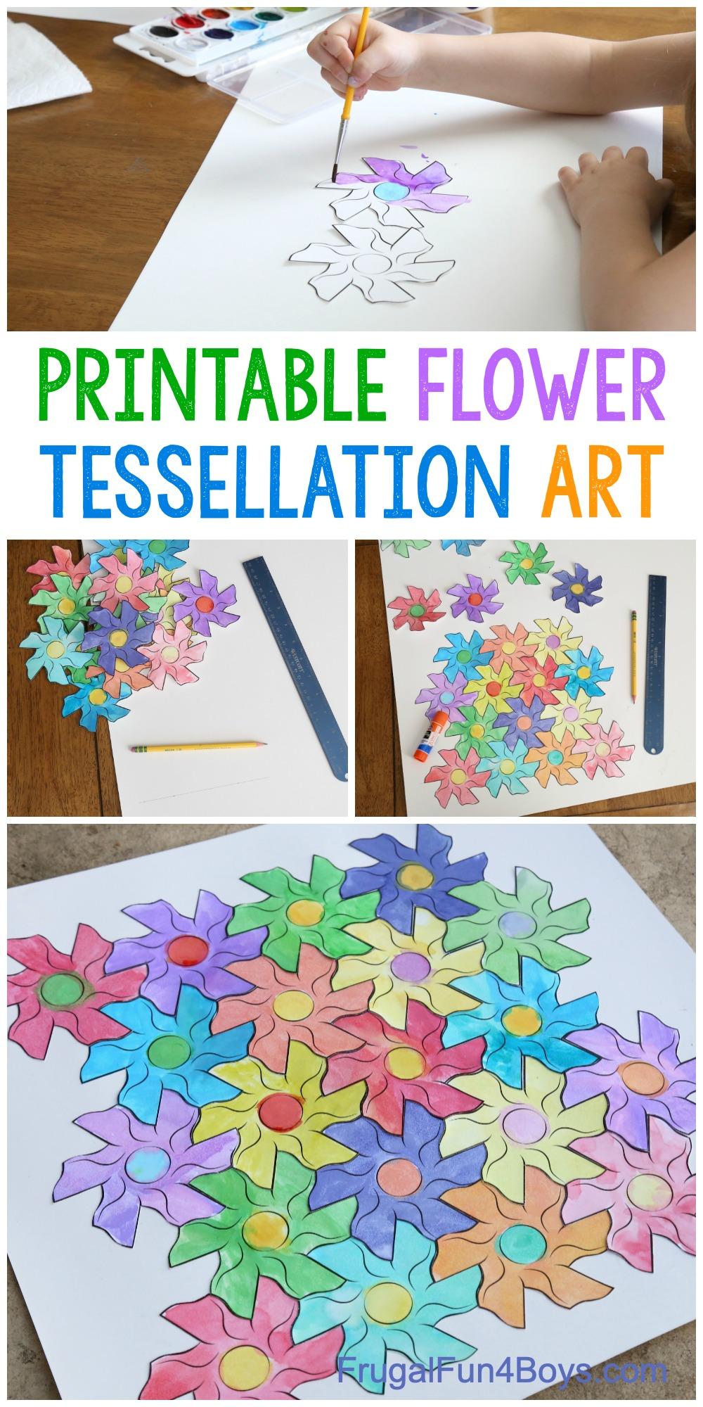 Flower Tessellation Activity - Printable Template