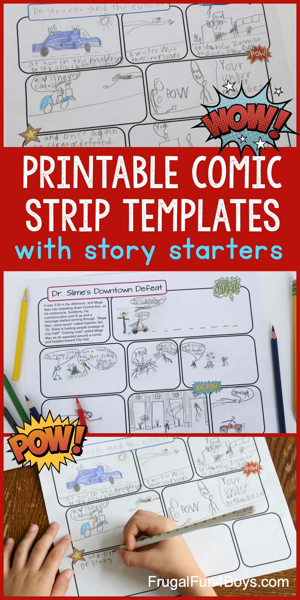 Comic Strip Templates for Kids