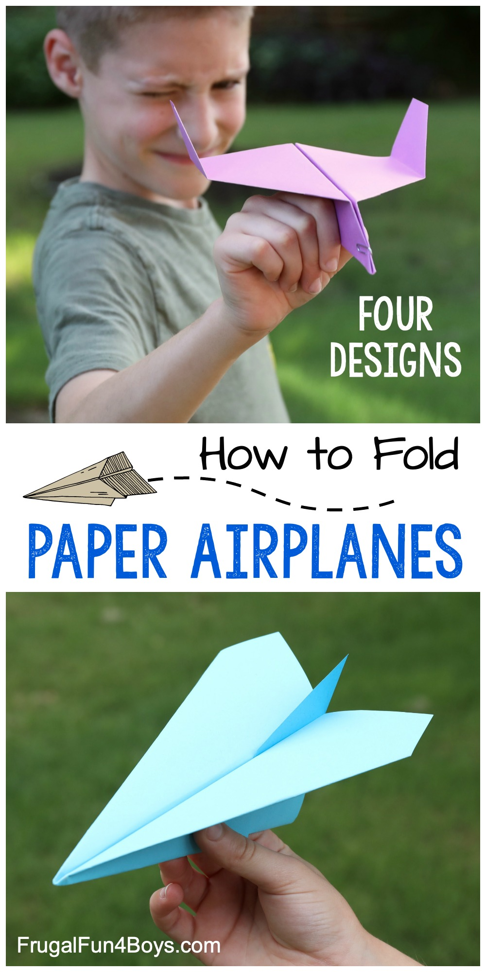 How To Make Awesome Paper Airplanes 4 Designs Frugal Fun For Boys And Girls