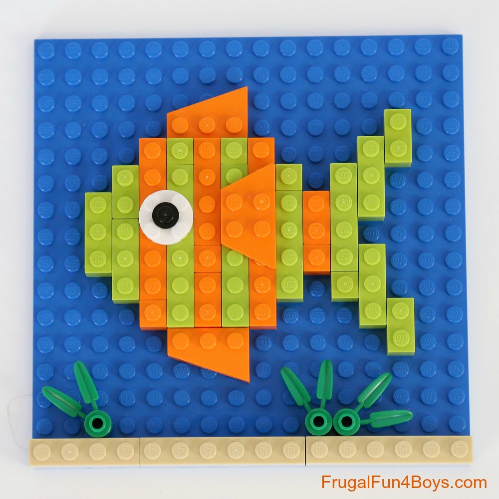 LEGO Animal Mosaic Building Cards