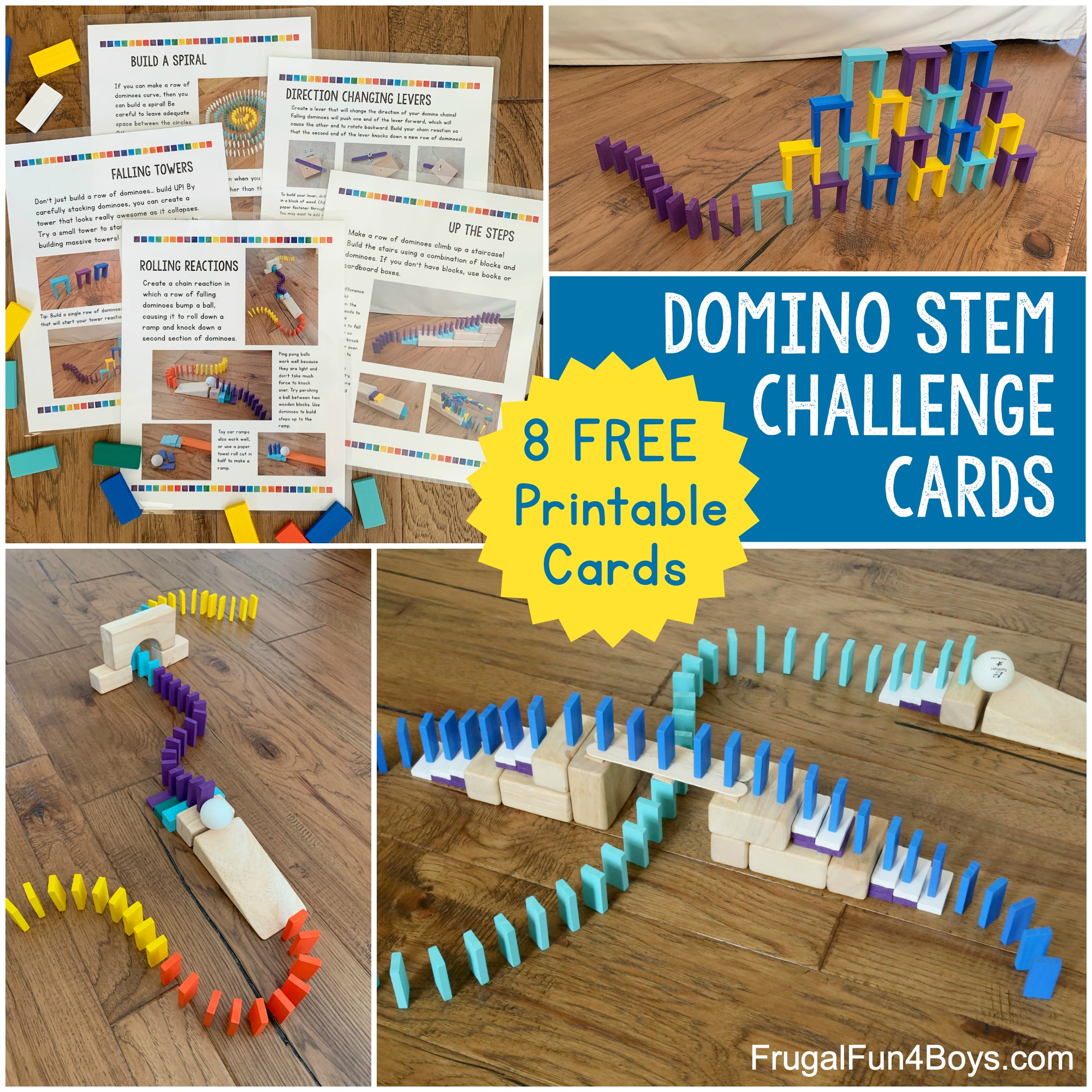Domino Chain Reaction Engineering Challenge Cards