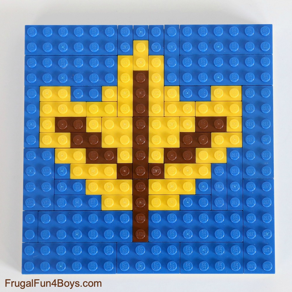 Fall LEGO Mosaic Ideas - Fall Leaf