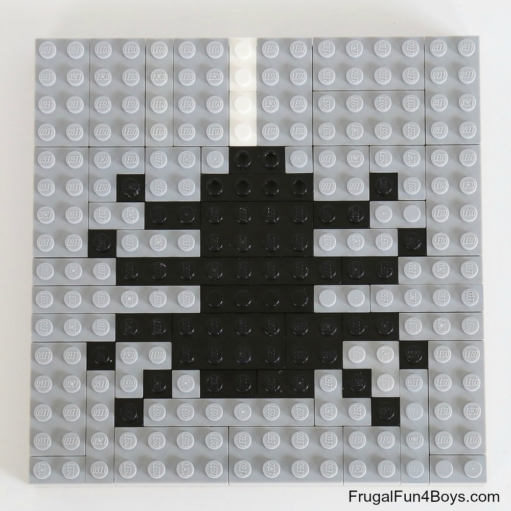 Fall LEGO Mosaic Ideas - Spider