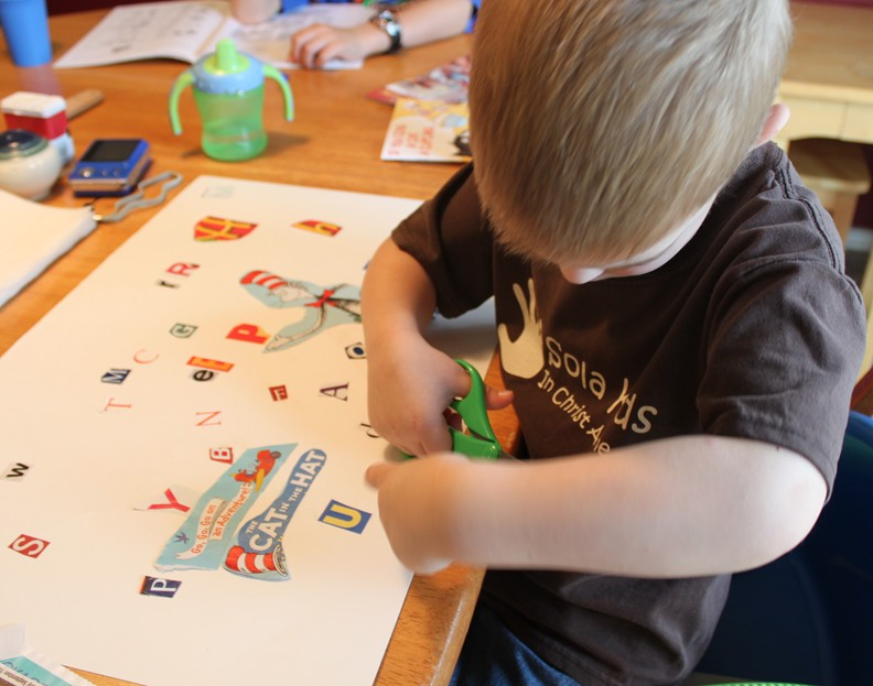 ABC Poster: Fun with Cutting and Gluing!