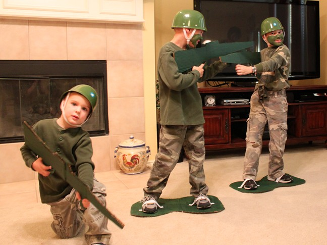 Our friends gave us some of their green facepaint and they gave us the awesome army guy ...  sc 1 st  Frugal Fun For Boys & Frugal Toy Story Army Guy Costume