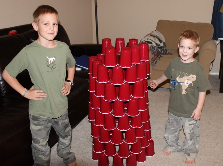 Frugal Building Activity: Cup Stacking