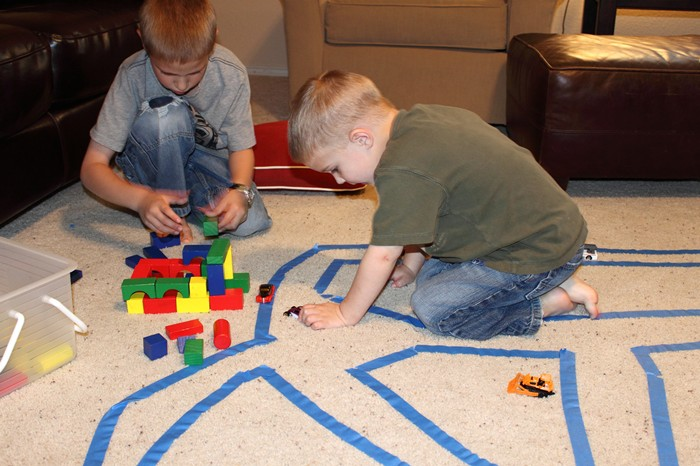 Tape Roadways for Hot Wheels Cars