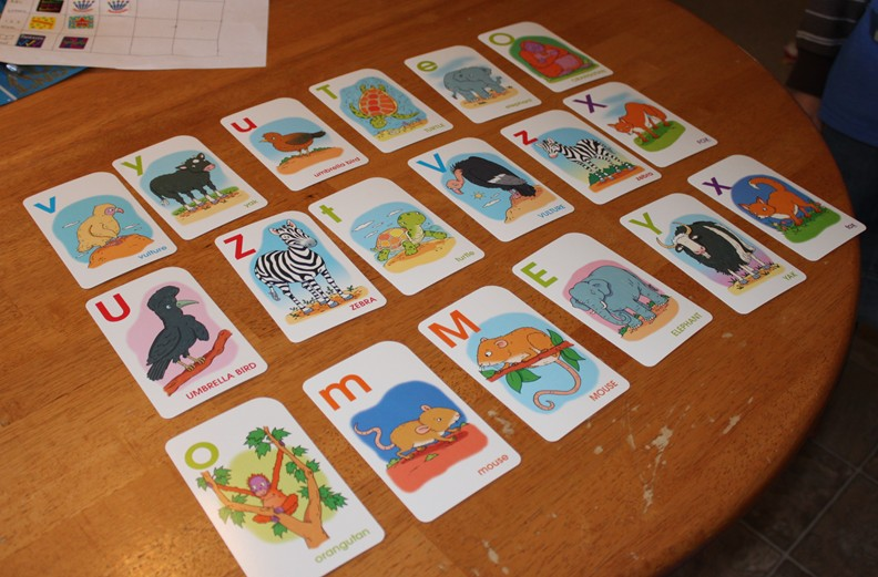 Preschool alphabet game matching capitals and lowercase for Go fish games