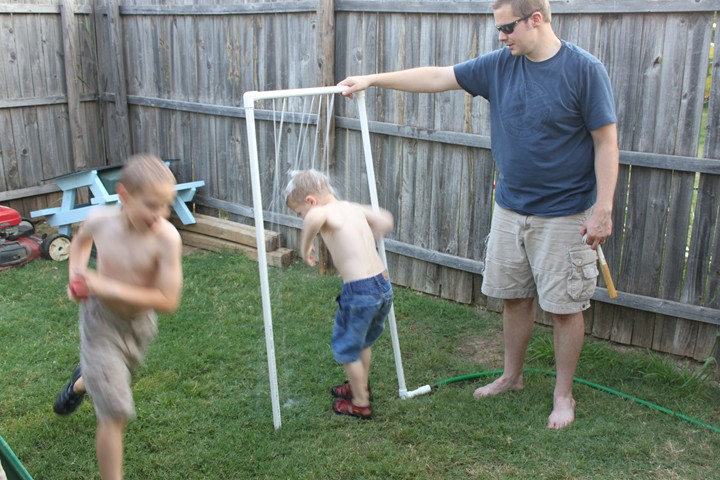 Make Your Own Sprinkler with PVC Pipes