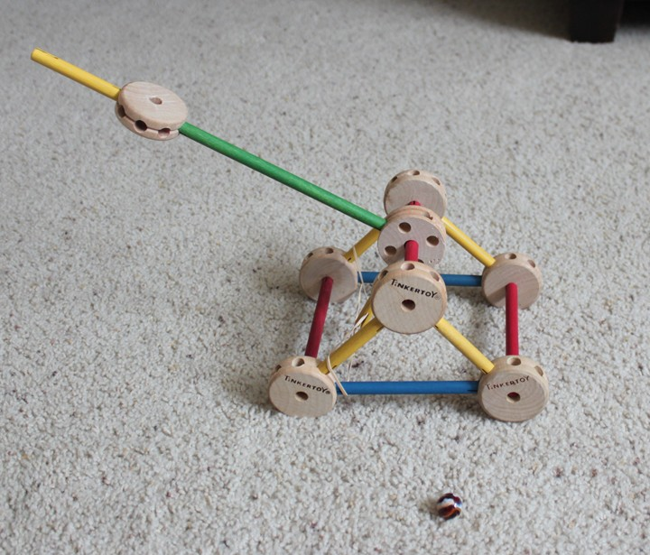 Build a Tinker Toy Catapult