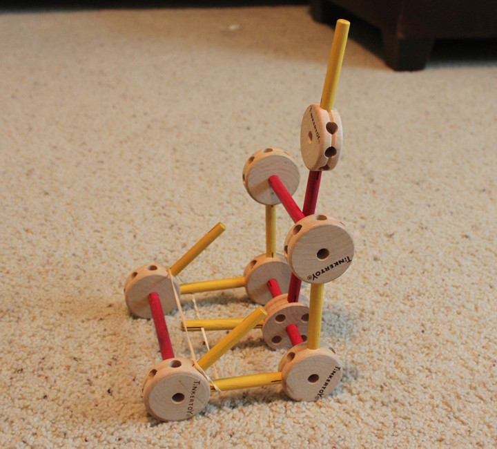 Tinker Toys For Boys : Build a tinker toy catapult