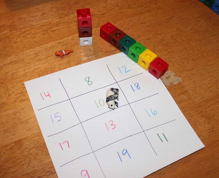 Preschool Math Game for Learning Larger Numbers – Frugal Fun For ...