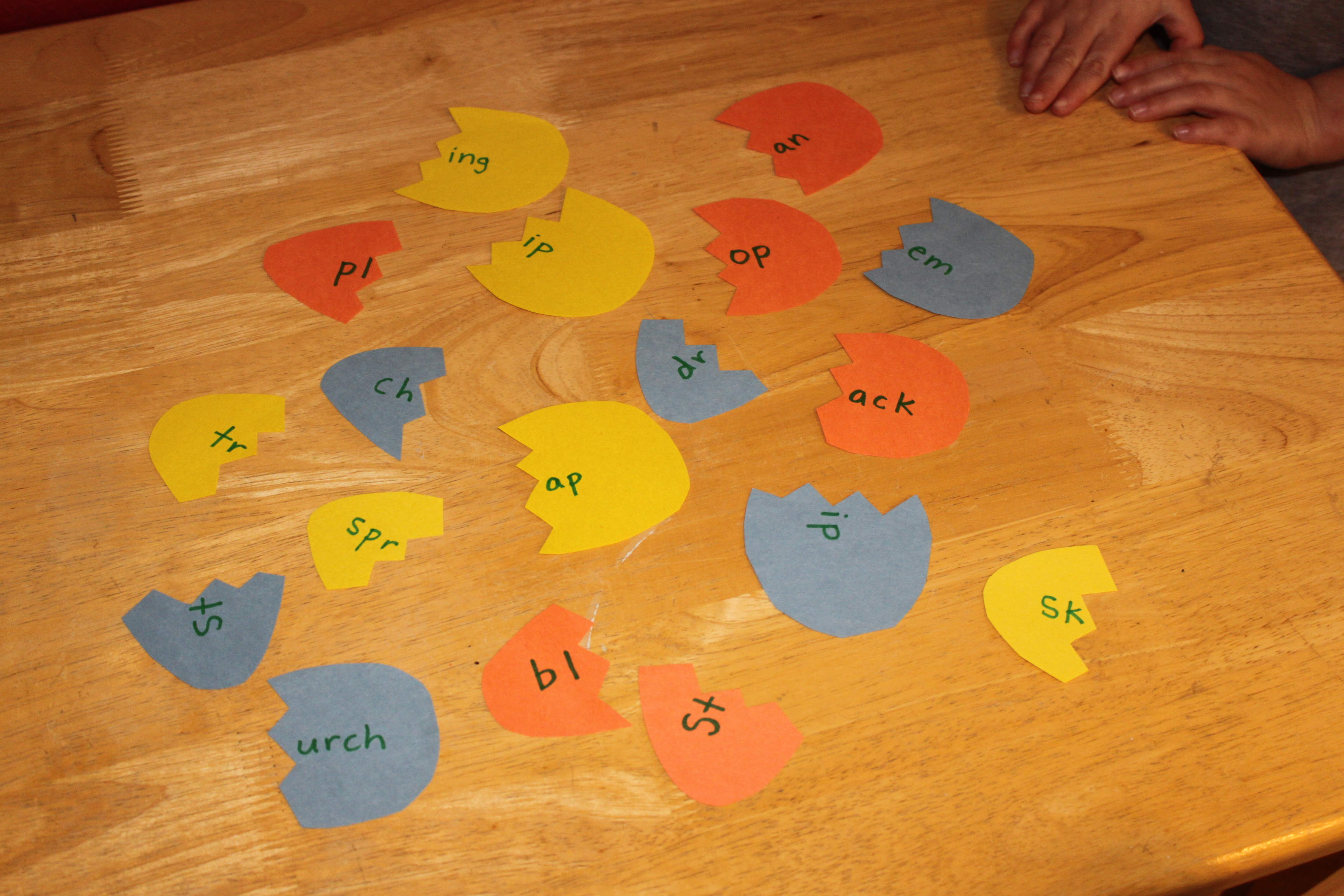 Easter Egg Word Match-up Game
