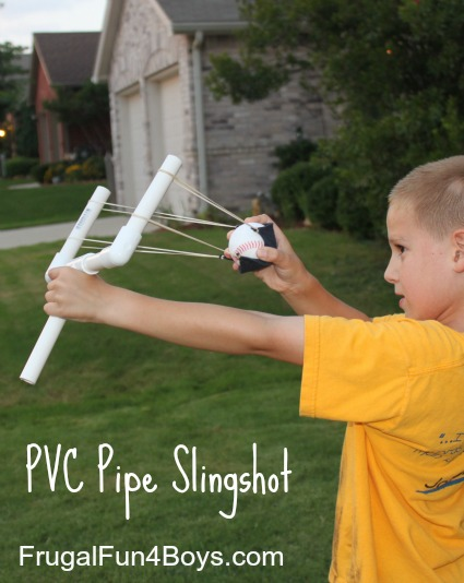 How to make a PVC pipe slingshot