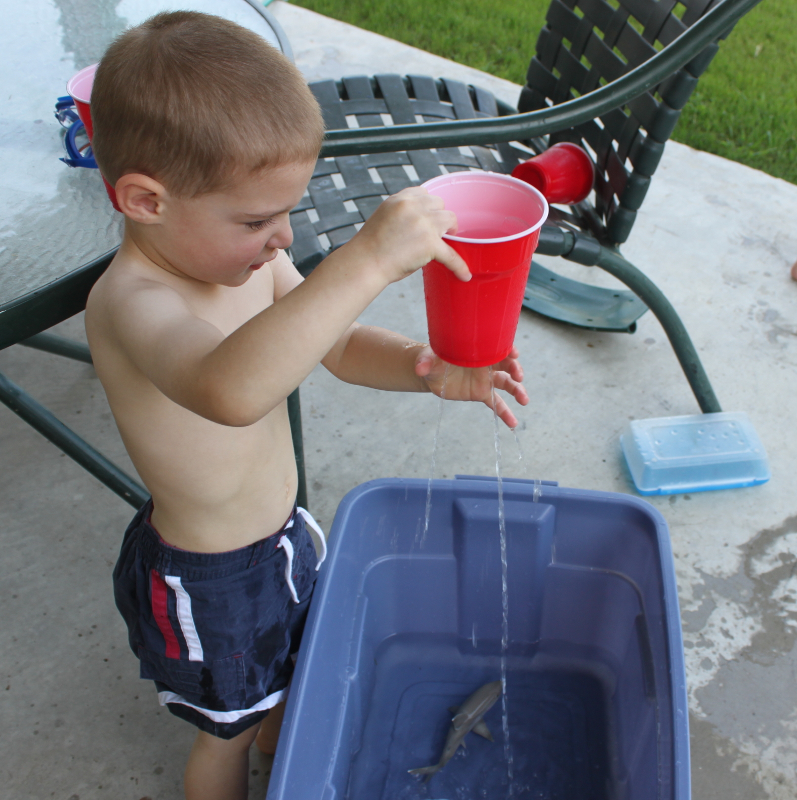 Backyard Water Play For Preschoolers