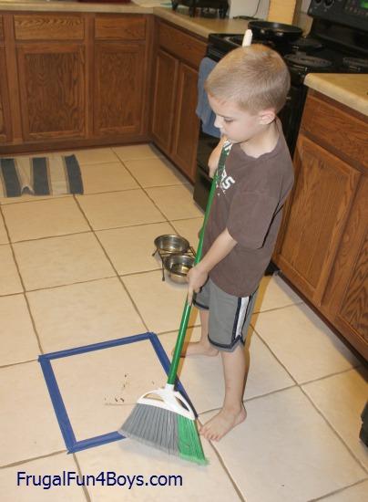 Teaching Kids To Sweep The Floor
